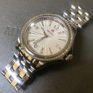 Michele Diamond Belmore Stainless Steel Watch
